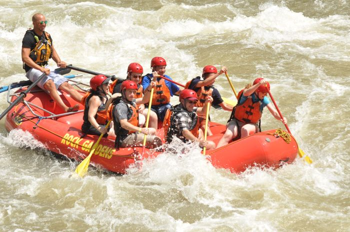 White water rafting, The Colorado River