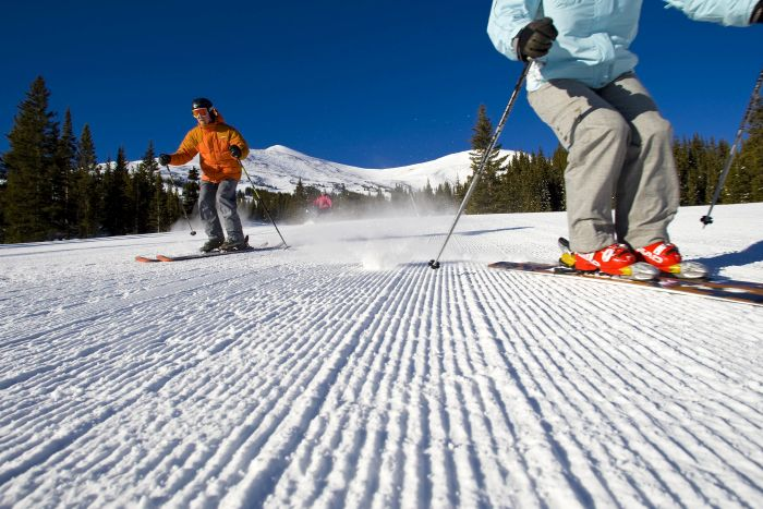 Skiing at Breckenridge, Colorado