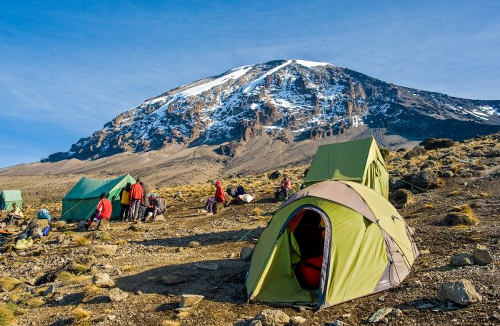 Barafu camp on Mount Kilimanjaro's Machame Route