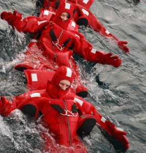 Dry suit swimming, Norway