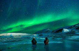 The northern lights in Svalbard