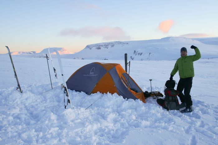 Wild camping, Iceland