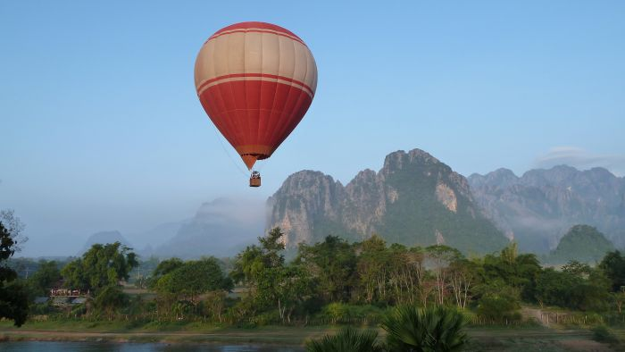 Balloon ride, Vang Vieng, Laos