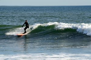 Surfing Lawrencetown, Nova Scotia
