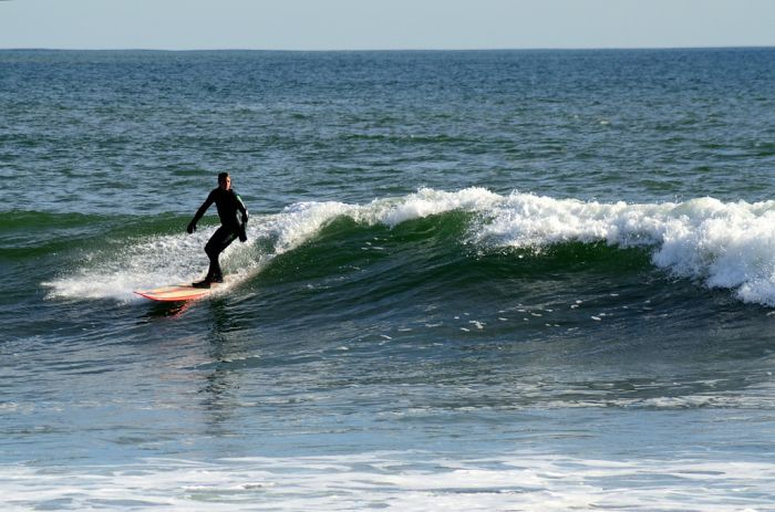 Surfing Lawrencetown, Nova Scotia