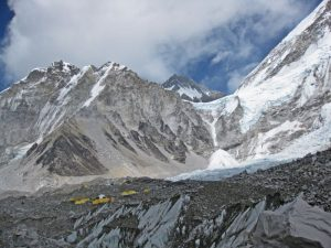 The view from Everest Base Camp