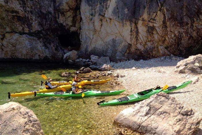 Sea kayaking in Pag Island, Croatia