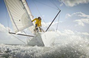 Sir Robin Knox-Johnston sailing