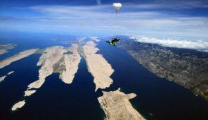 Skydiving in Zadar, Croatia