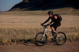 Alice Morrison on the Tour d'Afrique