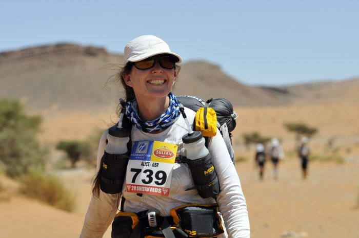 Alice Morrison in the Marathon des Sables