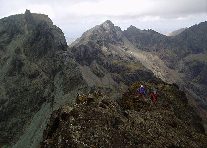 Climbers on Cuilin ridge-Isle of Sky, UK