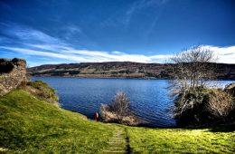 Lock Ness from Urquhart Castle, Scotland