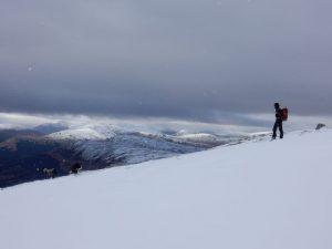 Robert descending Ben Lui, Scotland