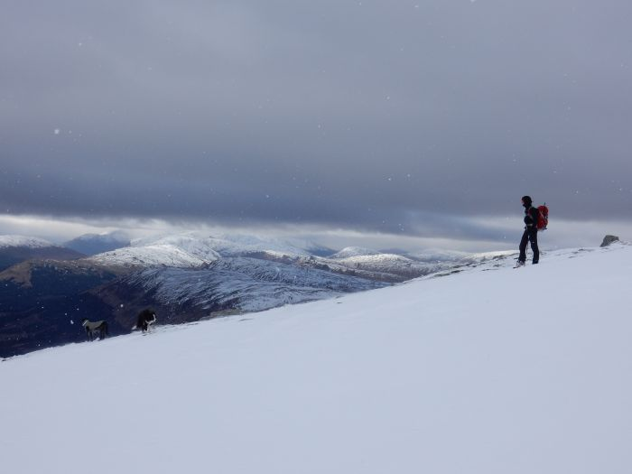 Robert descending Ben Lui, Scotland