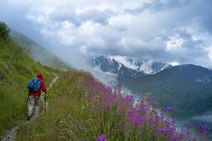 The Caucasus range, Georgia
