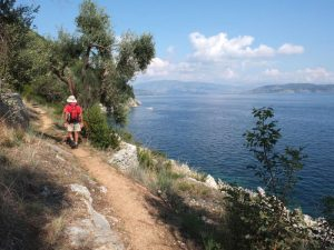Trekking to Agni beach Corfu