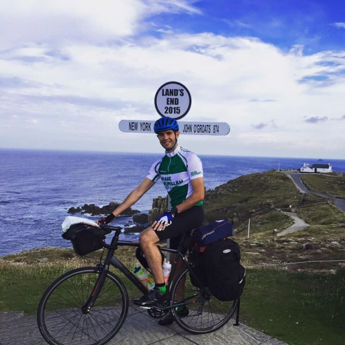 Adam Sultan cycling Land's End to John O' Groats