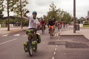 Adam Sultan cycling