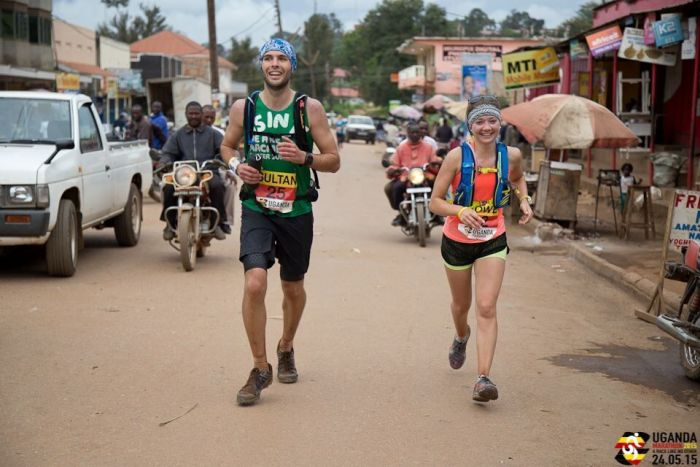 Adam Sultan running in Uganda
