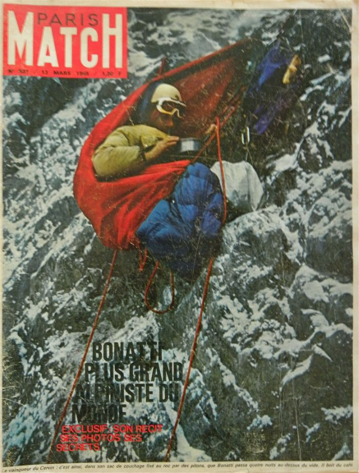 Bonatti on Paris Match front cover, 1965