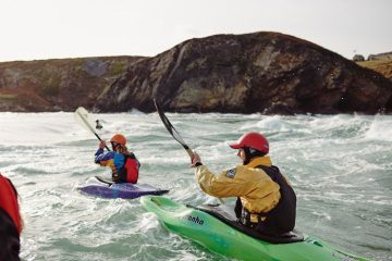 Canoeing, Llyn Peninsula, North Wales