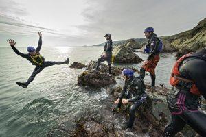 Coasteering, Prembrokeshire, South West Wales