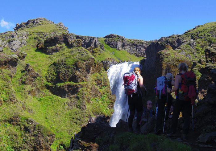 Hiking, Skogar, Rangarvallasysla, Iceland