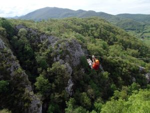 Rope traverse, The Pyrenees