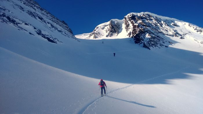 Ski touring in the Pyrenees Mountains