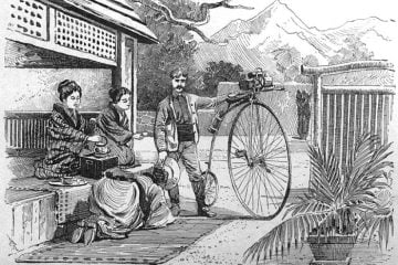 Thomas Stevens, round the world on a penny farthing