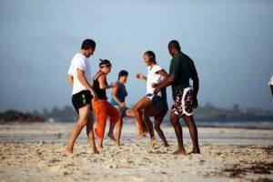 Barefoot group hopping