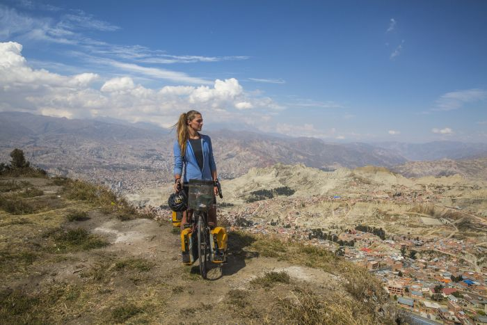Laura Bingham, cycling South America
