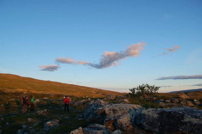 Trekking to Halti, Storfjord, Troms Fylke, Norway