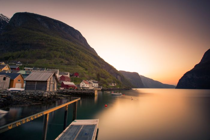 Undredal at sunset