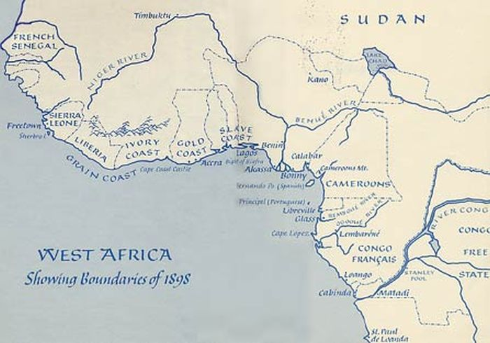 Map of West Africa in 1898