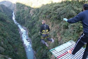 Bhote Kosi canyon swing, Nepal