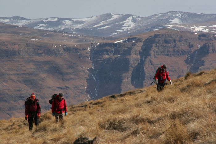 Hiking Drakensberg Mountains, South Africa