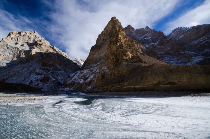 Frozen Zanskar River, Chadar Trek, Ladakh, India