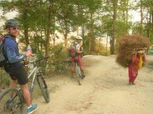Mountain Biking in Shivapuri National Park, Nepal