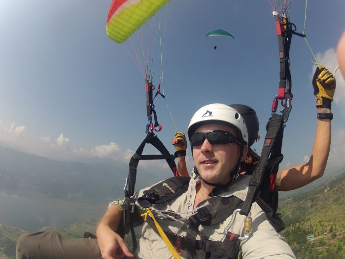 Paragliding in Bandipur, Nepal