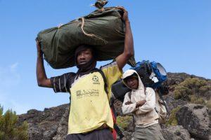 Porters on Mount Kilimanjaro