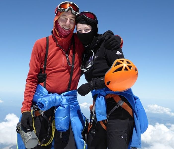 Robert and Rona on Mount Elbrus climb, Russia