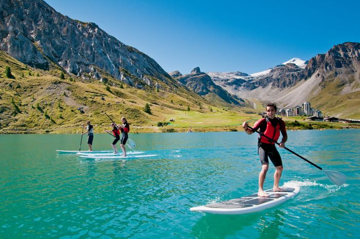 Stand up paddling - Tignes, France