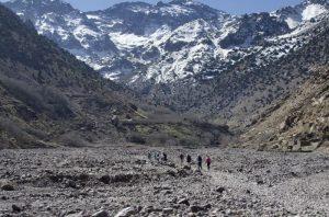 Trekking towards Mount Toubkal, Morocco