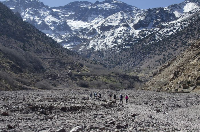 Trekking towards Mount Toubkal, Morocco