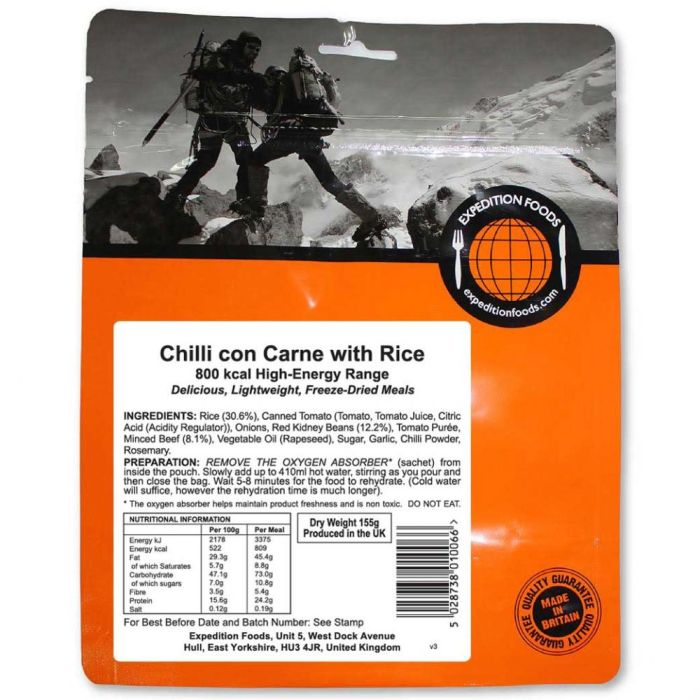 Expedition Foods Chilli Con Carne with Rice