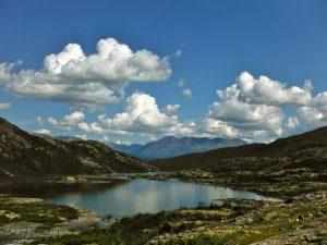 Over the Pass into Lindeman City-Chilkoot Trail, Alaska, USA