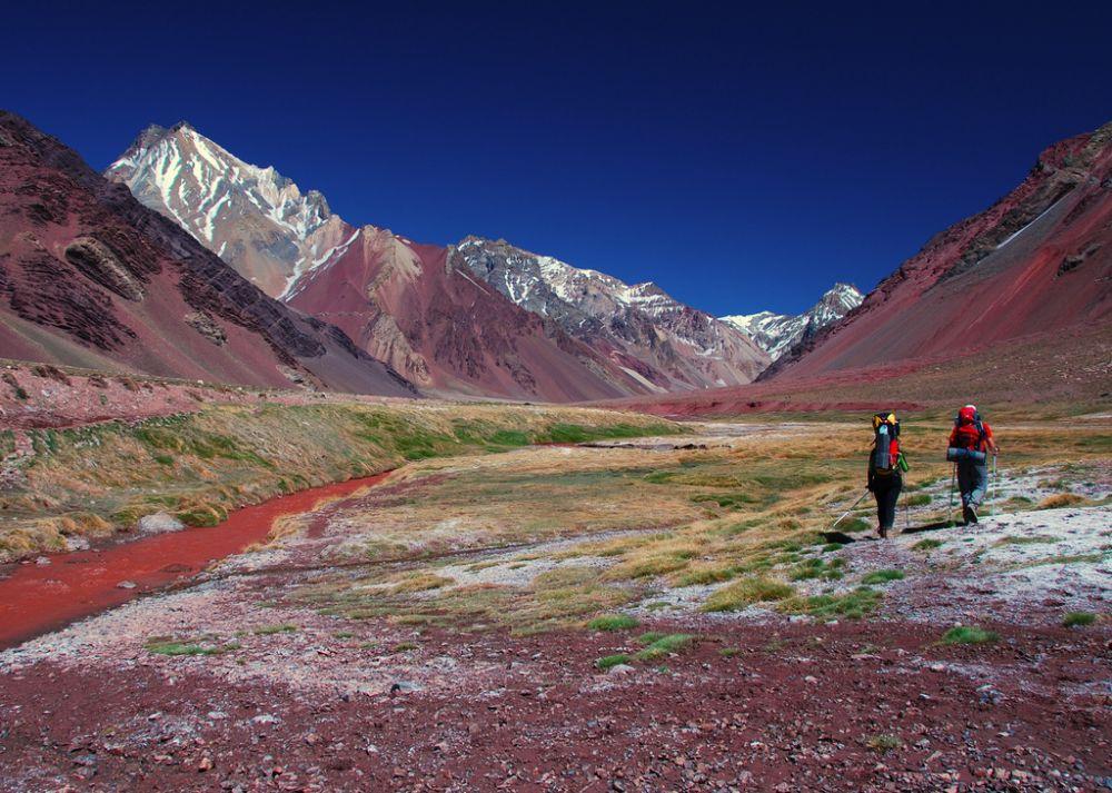 Trekking in Aconcagua, Argentina