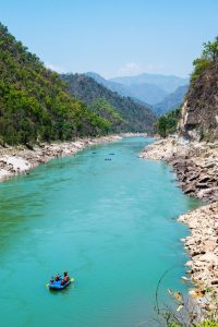 Rafting the Ganges in India